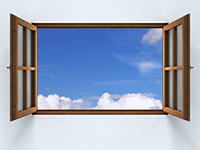 Image of a window to symbolize open ended questions in negotiation